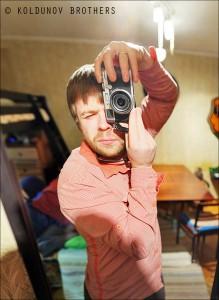 автопортрет с маленькой глубиной резкости