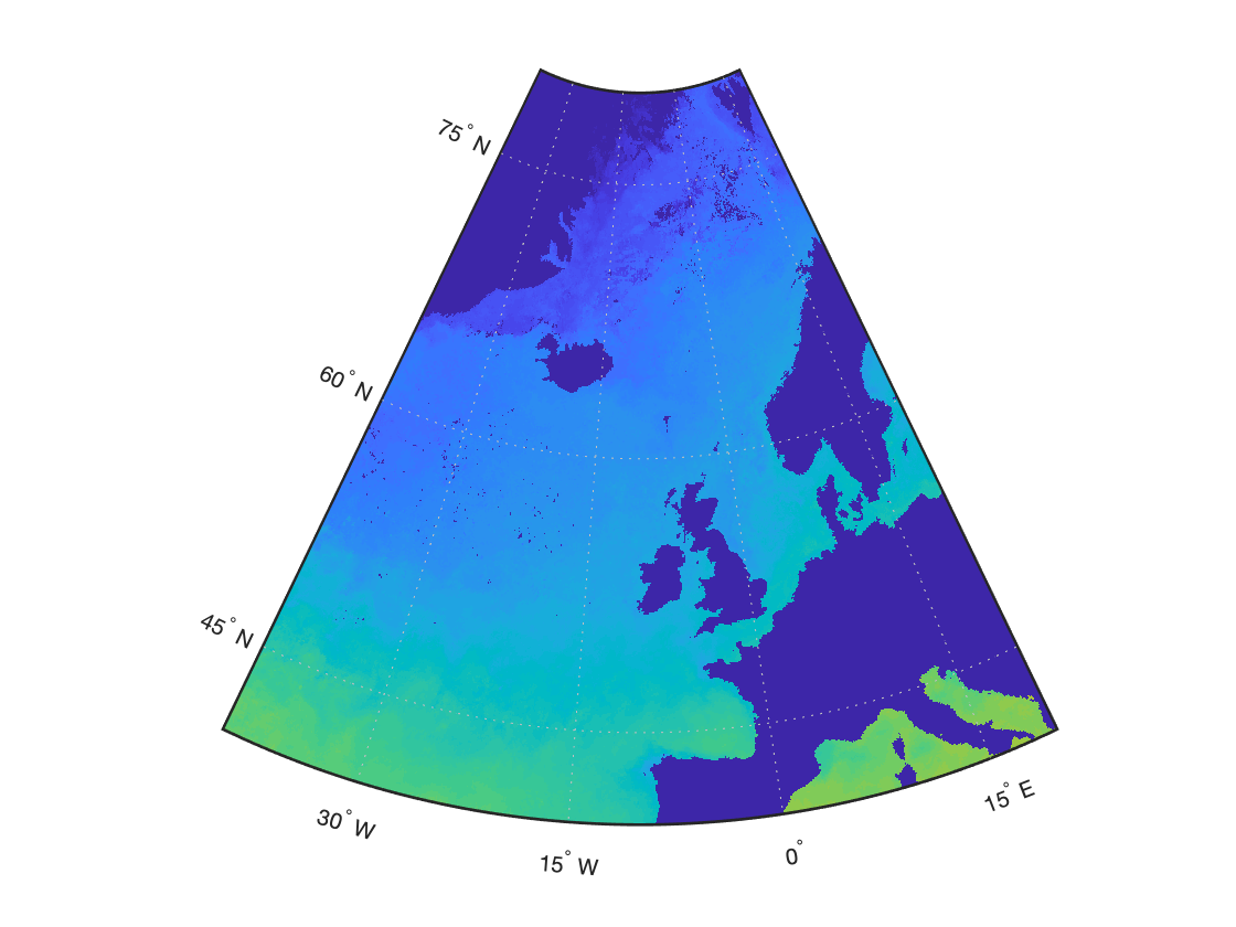 Ограничиваем район построения при визуализации данных на карте в MATLAB