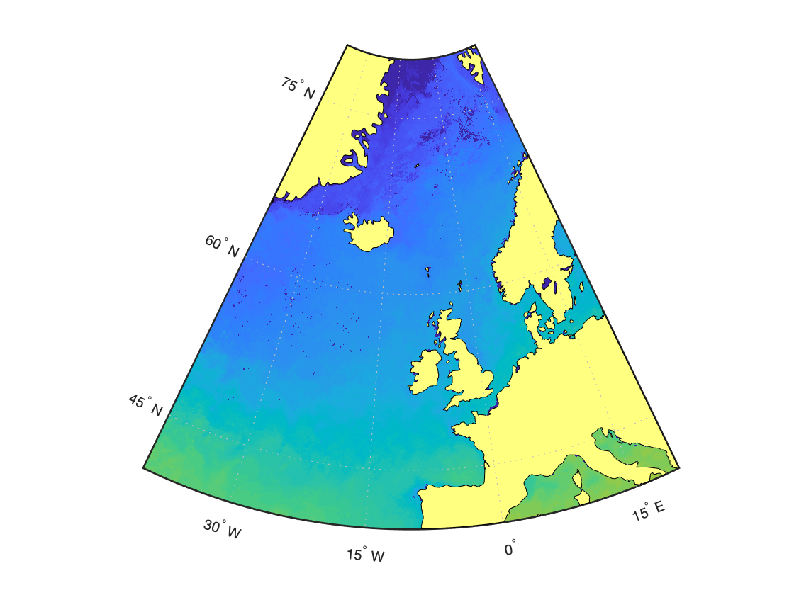 Построение береговой черты (материки, океаны) в MATLAB