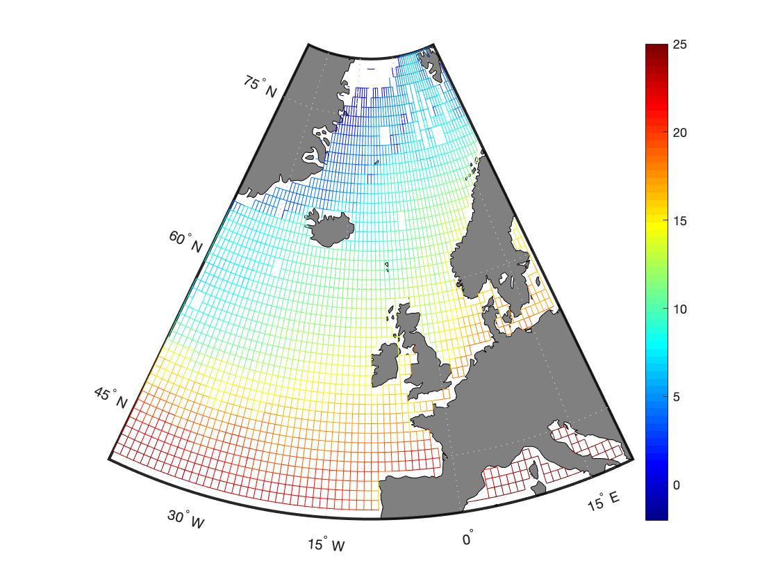 Визуализация карты в MATLAB через geoshow с параметром 'mesh'