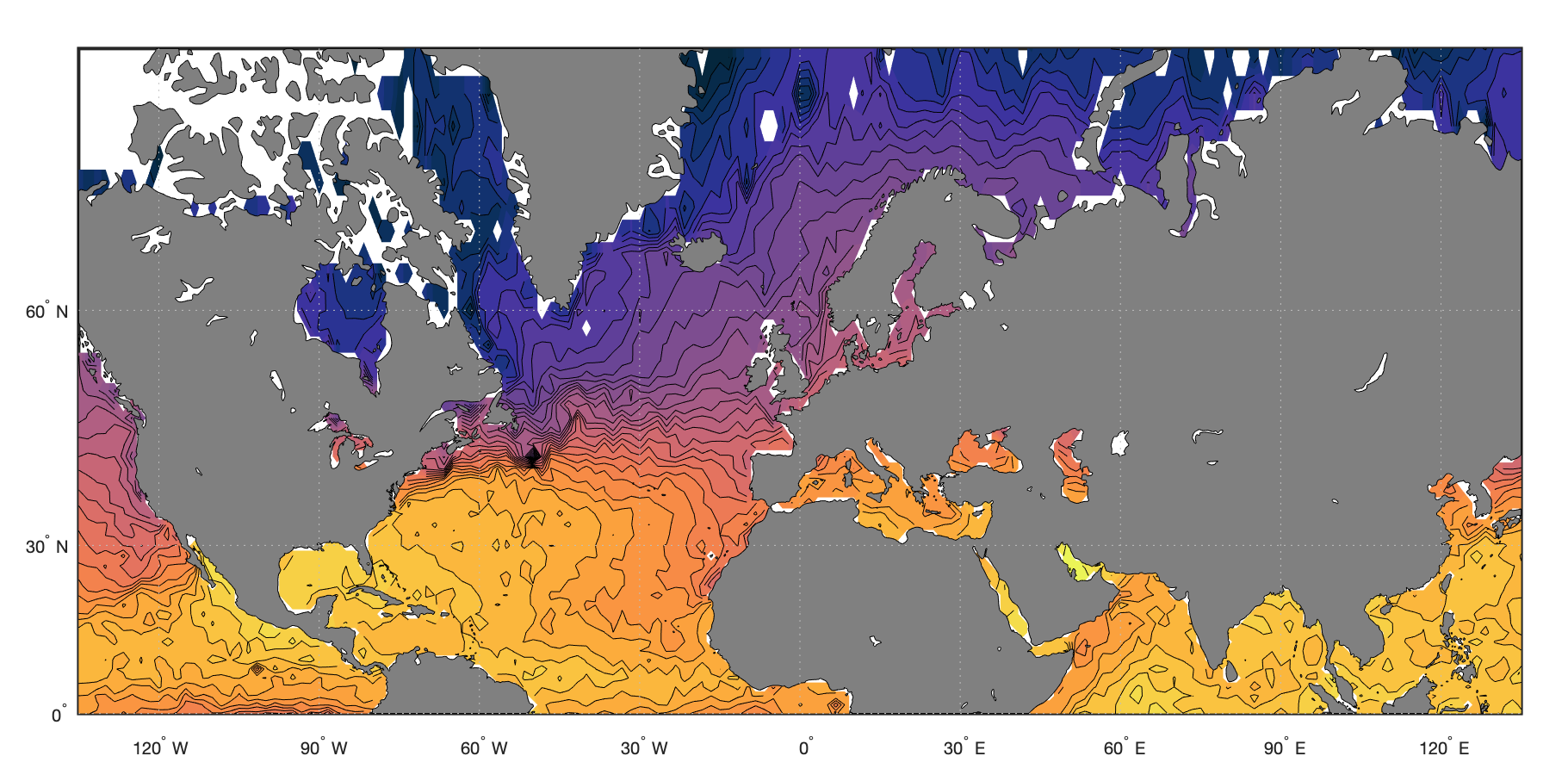 Colormap для отображения океанологических данных