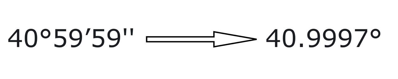 Как в MATLAB перевести координаты из формата «градусы-минуты» в градусы.
