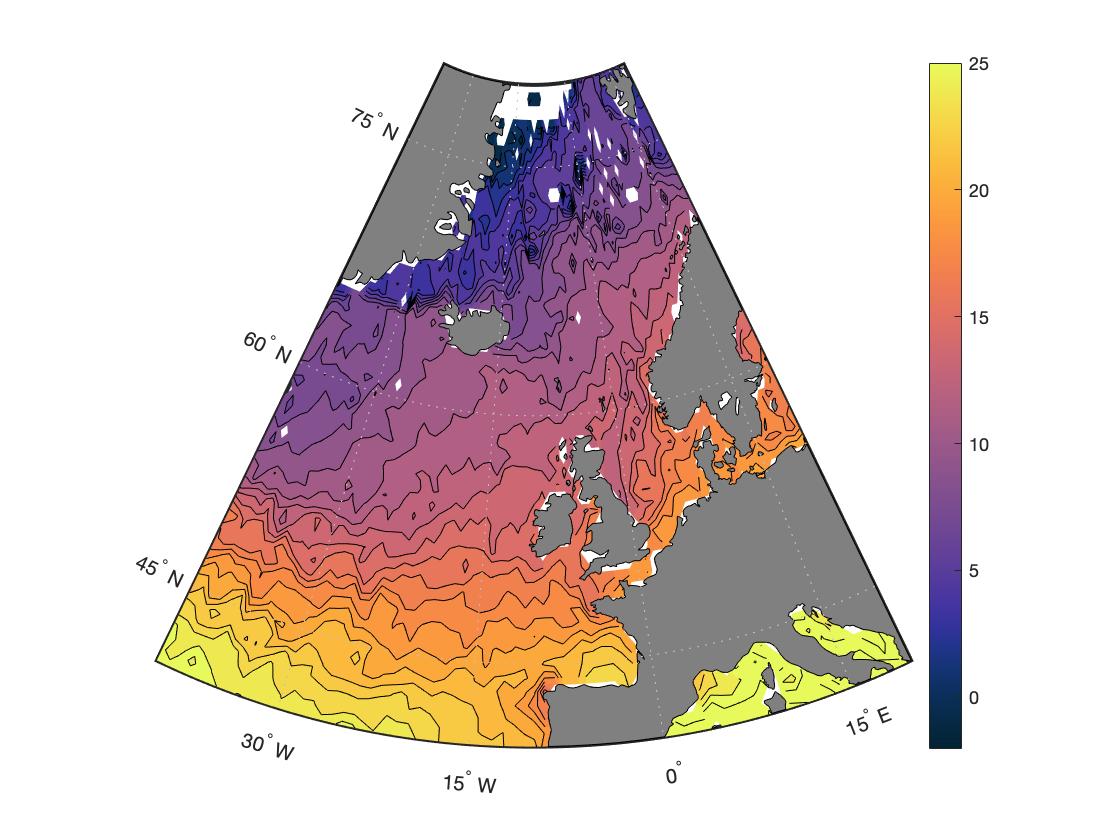 Цветовая шкала для океанологов