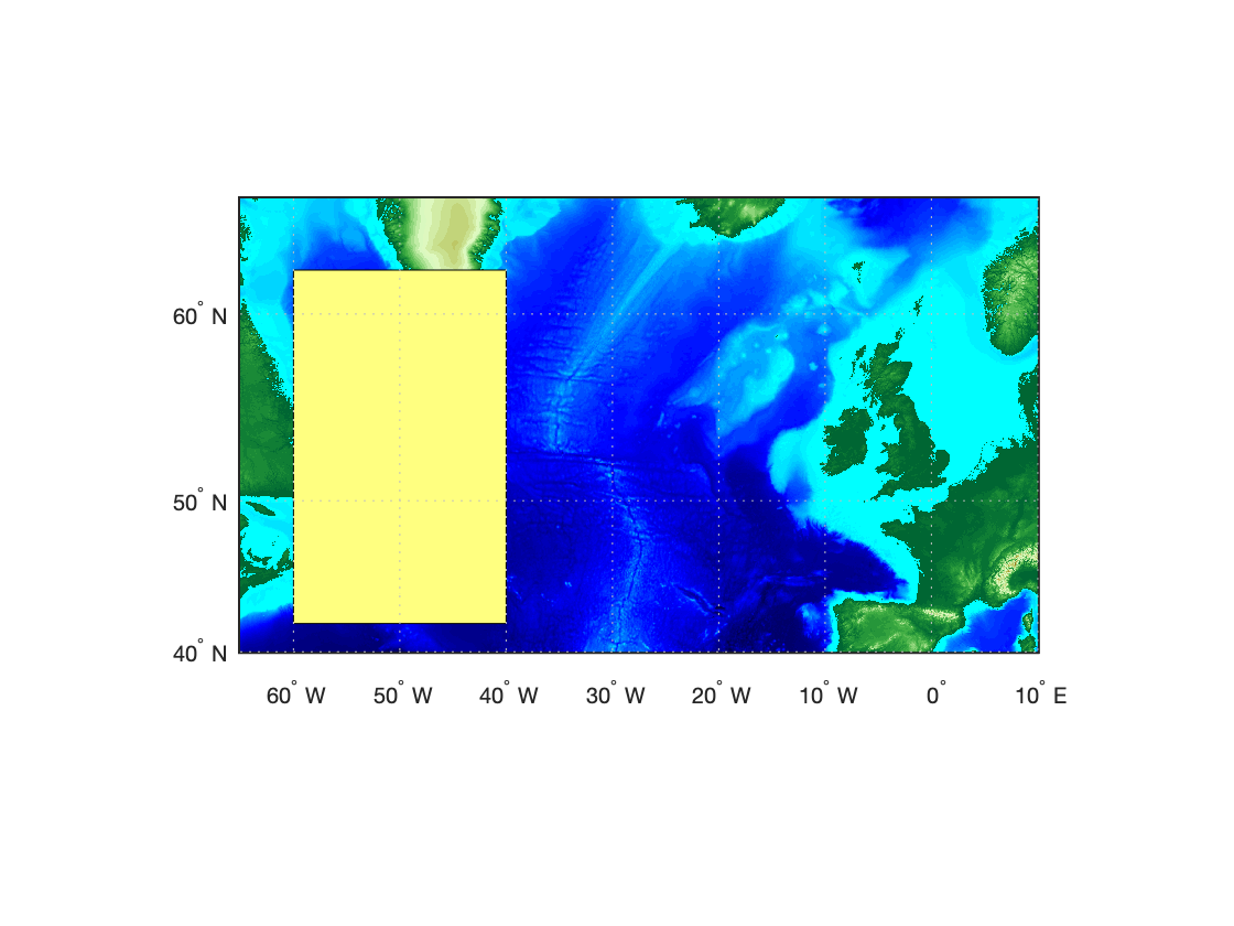 Строим полигон на карте в MATLAB