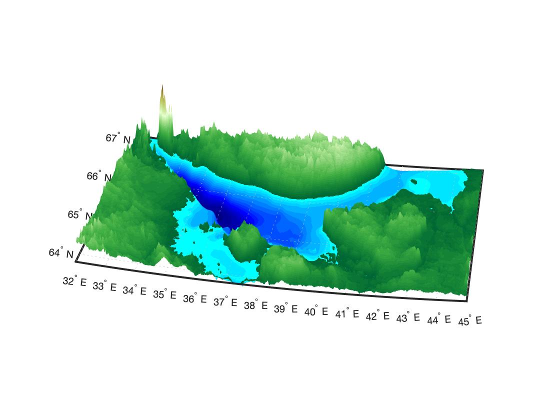 Трёхмерная карта рельефа
