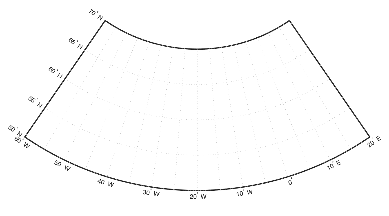 Как уменьшить расстояние между картой и значениями долгот в MATLAB